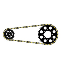 chain drive vector image vector image