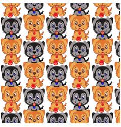 dog pattern cute cartoon dog vector image