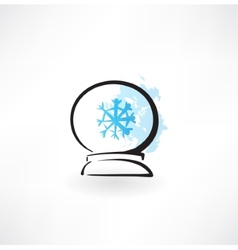 glass orb grunge icon vector image