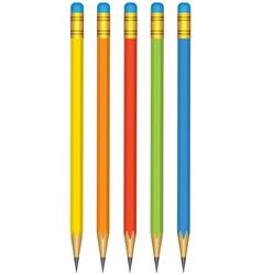 Pencils set vector image vector image