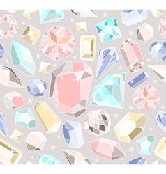 Seamless pastel diamonds pattern vector image