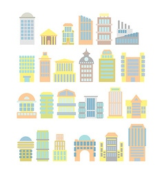 Set Business Property shopping center and hospital vector image