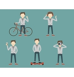 Set Man Lifestyle vector image vector image