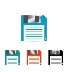 Set of colored floppy icon vector image vector image