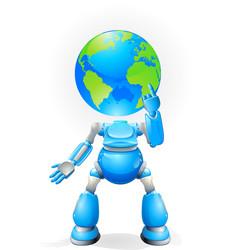 globe head robot concept vector image