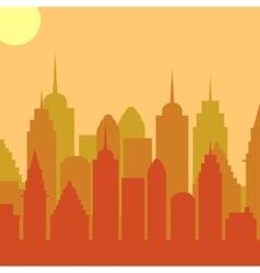 Morningt cityscape background City vector image