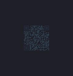 Qr code computer symbol vector image