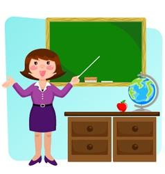 teacher in the classroom vector image vector image