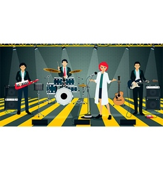 Bands in suit vector image