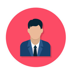 businessman flat icon vector image
