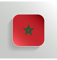 Button - Morocco Flag Icon vector image vector image