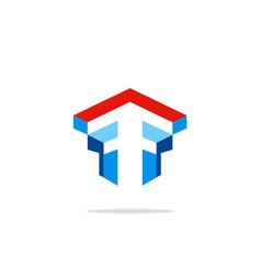construction monument shape logo vector image