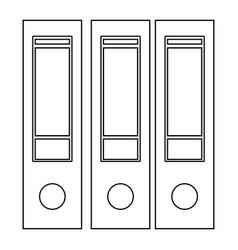 folders the black color icon vector image