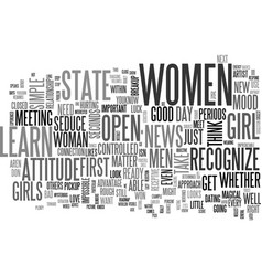 is she open text background word cloud concept vector image