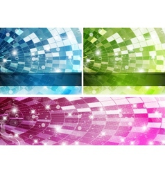 rainbow-disco-set vector image
