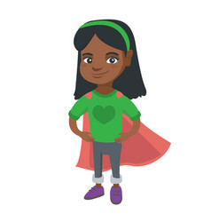 african brave girl wearing superhero costume vector image