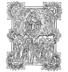 antique engraving vector image vector image