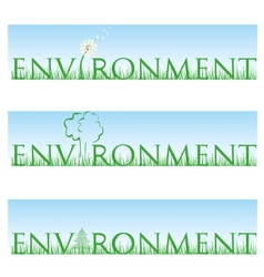 environment set vector image vector image