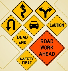 Road Sign Set vector image vector image
