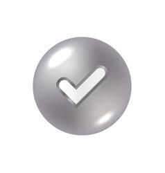 tick sign element vector image
