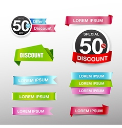 038 Collection of colorful web tag banner vector image