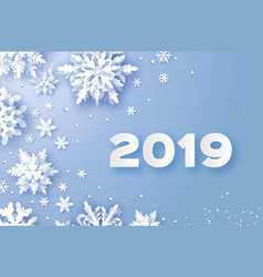 2019 merry christmas and happy new year greetings vector image