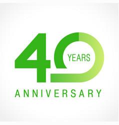 40 anniversary classic logo vector