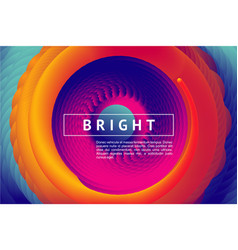 abstract horizontal background with color vortex vector image