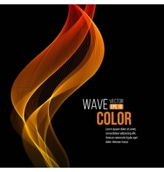 Abstract orange wave light background vector