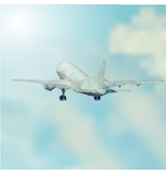 Airplane takeoff abstract vector image