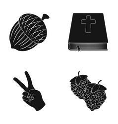 alcohol religion and other web icon in black vector image