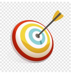 arrow in target icon cartoon style vector image