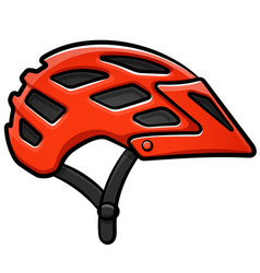 Bike helmet cartoon isolated vector