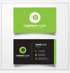 Billiards ball pool icon business card template vector