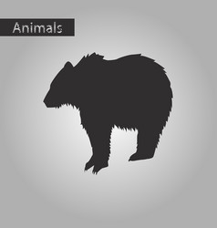 Black and white style icon of bear vector