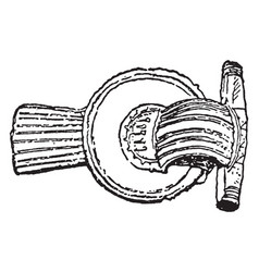 Brooch from 3rd century vintage engraving vector