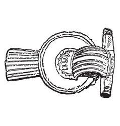 Brooch from 3rd century vintage engraving vector
