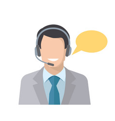Call center employee vector