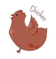 Chicken isolated Sticker for kids Child fun icon vector image