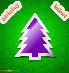 Christmas tree icon sign Symbol chic colored vector