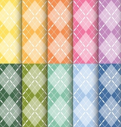 Clorful plaid pattern vector
