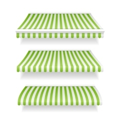 Colorful Awnings for Shop Set Green vector