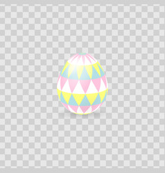 colorful easter egg isolated on transparent vector image