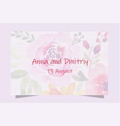 Colorful greeting wedding invitation card set vector