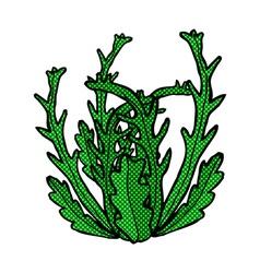 comic cartoon seaweed vector image
