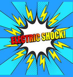 Comic electric shock wording dynamic template vector