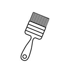 Contour line monochrome with paint-brush vector