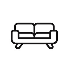 couch icon sofa furniture symbol vector image