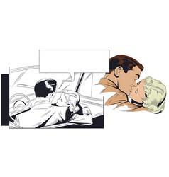 Couple kissing vector