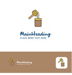 creative honey logo design flat color logo place vector image